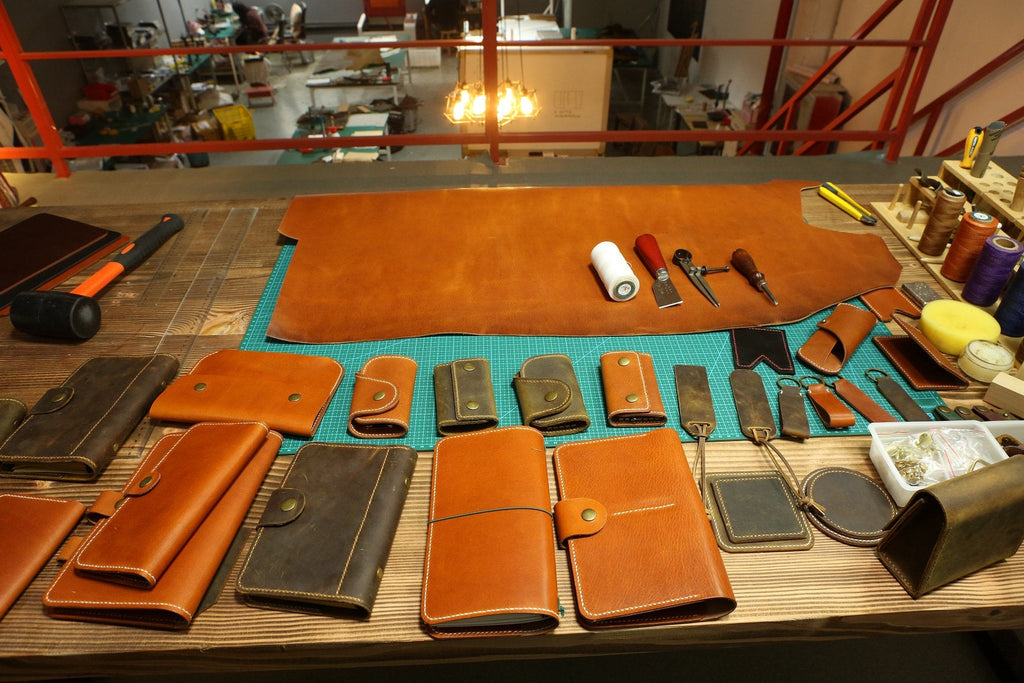 vegetable tanned leather cover for moleskine notebook