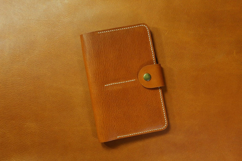 Vegetable tanned leather family 4 passport holder case organizer