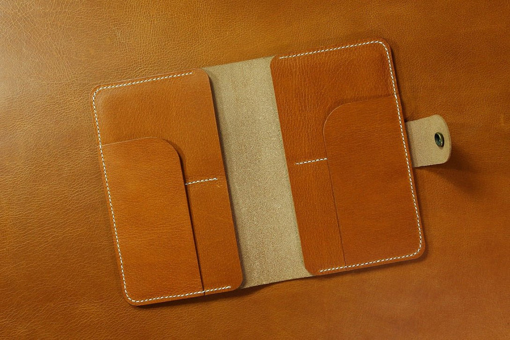 leather family passport case