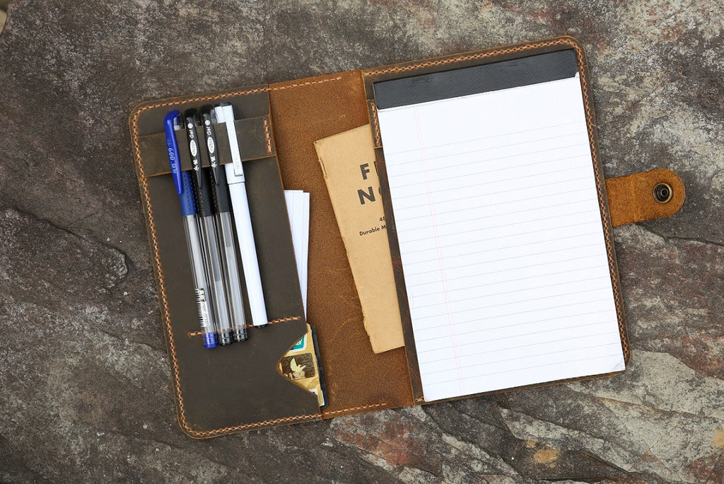 leather 5 x 8 notepad