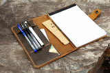 leather 5 x 8 writing pad