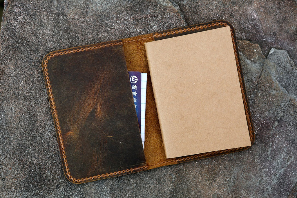 leather case for mini composition notebook
