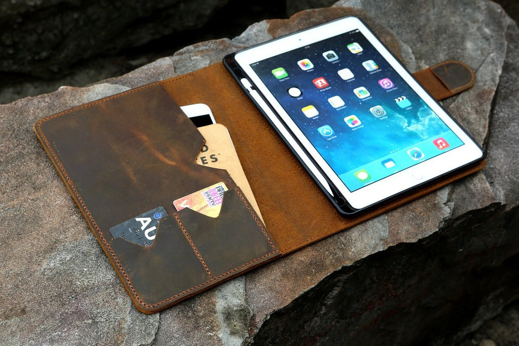 leather iPad cover case