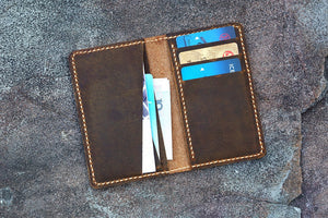 minimal real leather front pocket wallet
