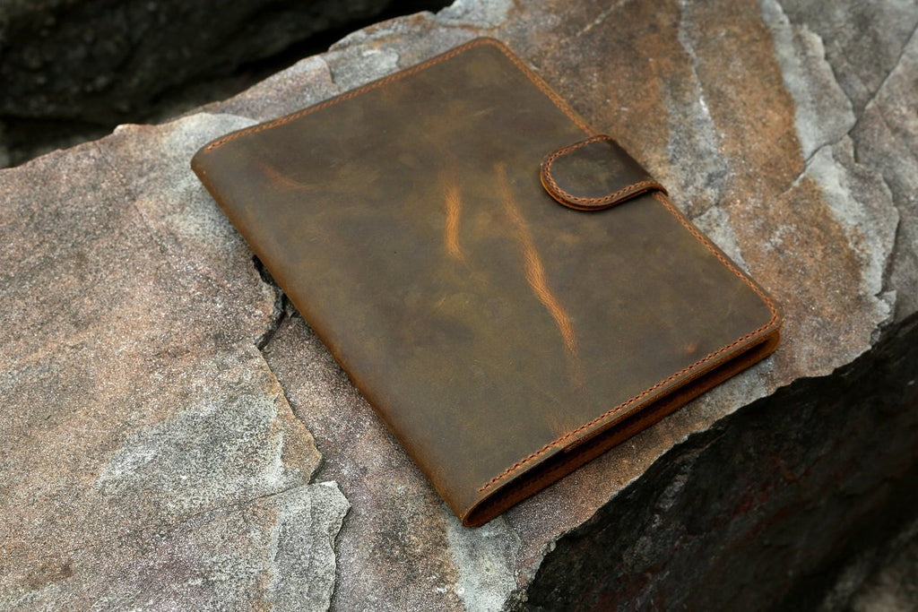 vintage leather portfolio stand case for  iPad Pro 10.5/ 9.7