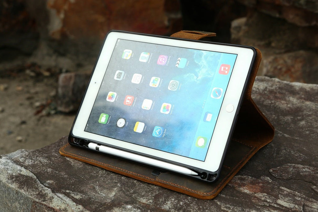 leather iPad stand case