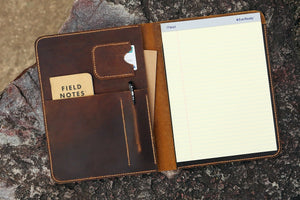 leather organizer for letter size notebook