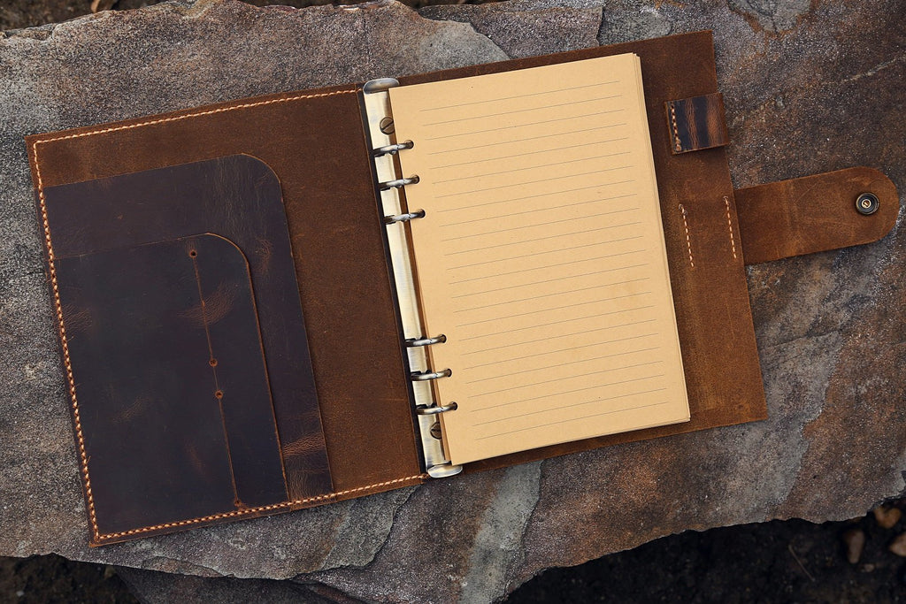 A5 leather planner