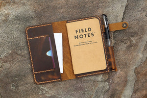 Men leather pocket notebook case cover