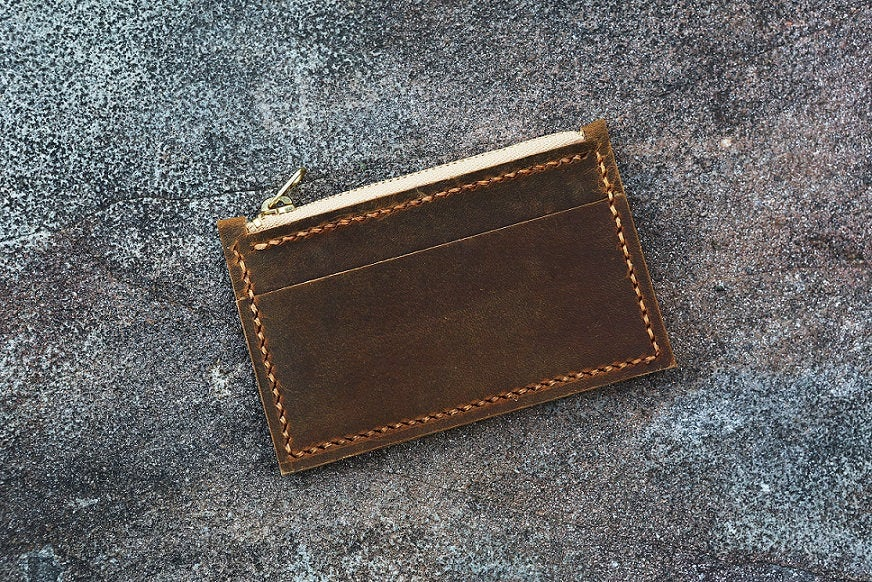 Minimalist Wallet, leather front pocket wallet coin wallet