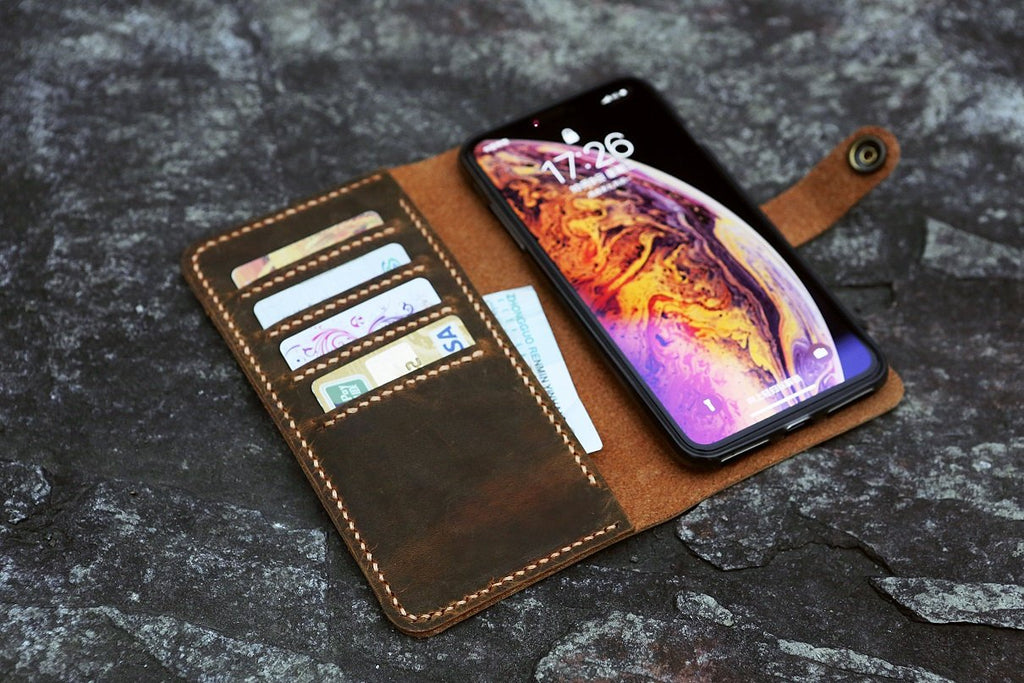 leather iPhone XS Max wallet