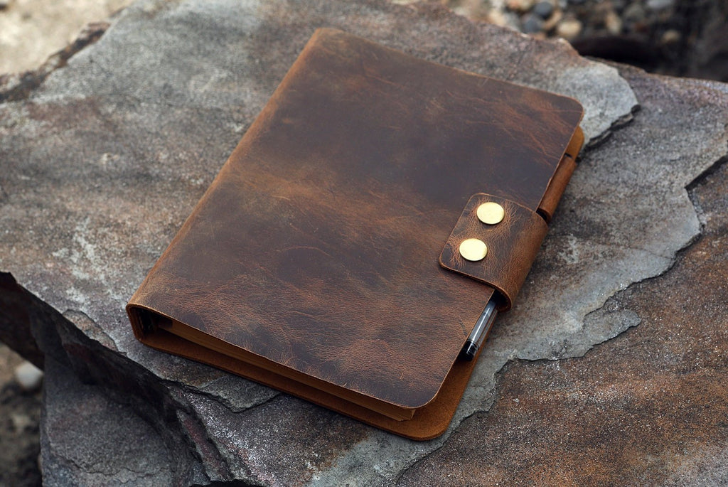 leather A5 travel journal