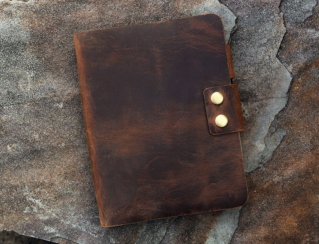 leather A5 refill binder