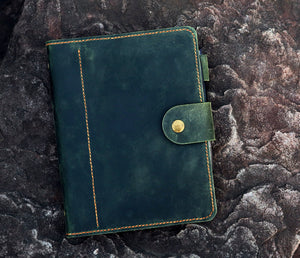 vintage leather diary planner