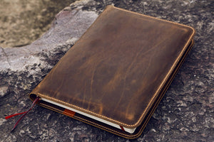 leather cover for Leuchtturm 1917 A4+ notebook