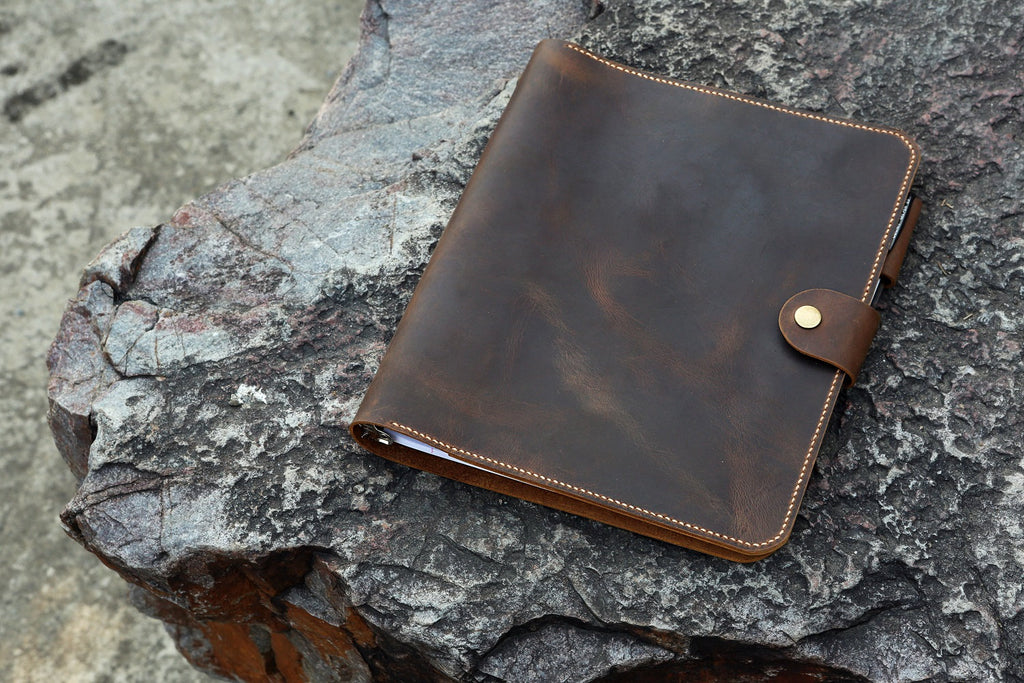 leather 3 ring binder portfolios