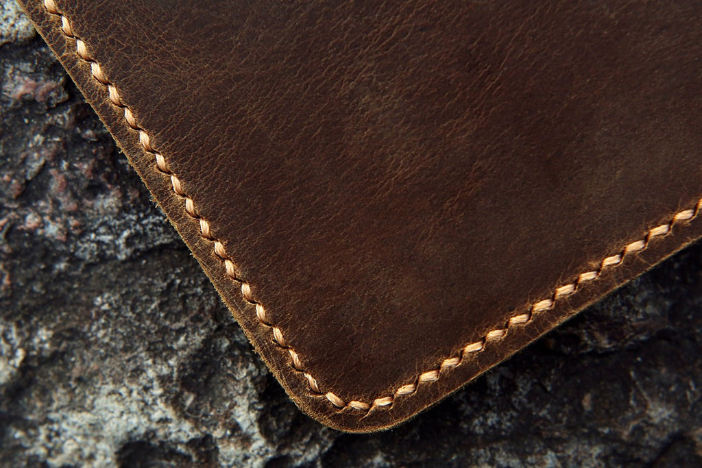 Personalized distressed leather everlast notebook cover executive size