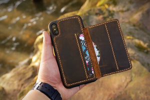 slim leather iPhone XS card wallet