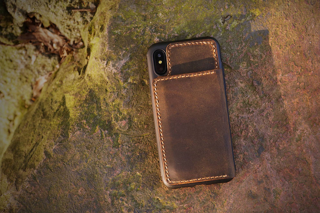 Personalized leather iPhone 11 wallet