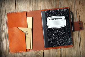 leather cover portfolio for composition notebook