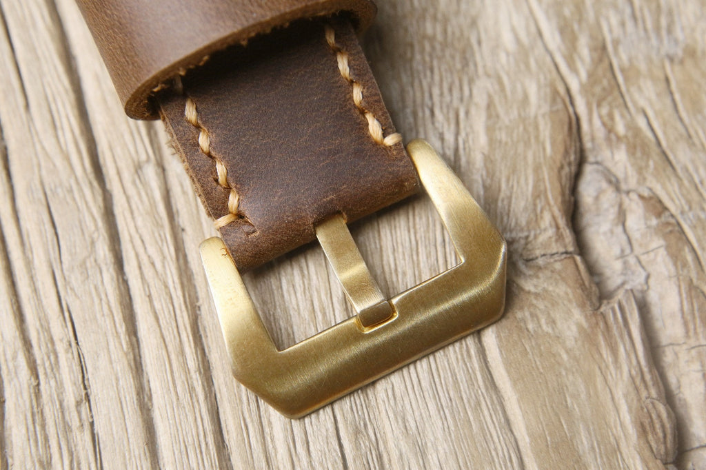 Vintage mens leather watch straps for Panerai watch