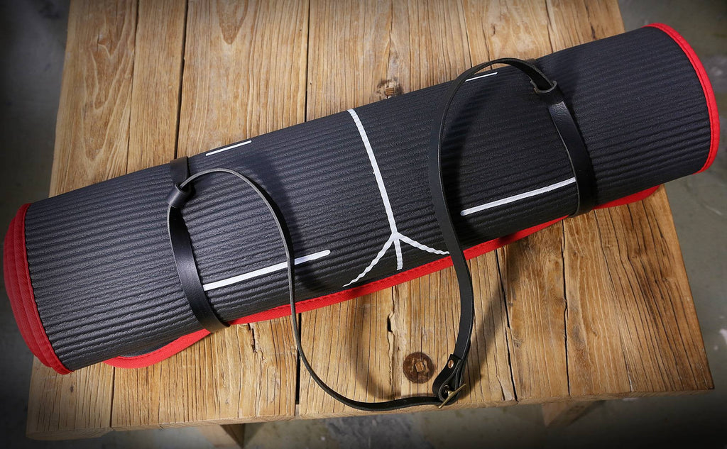 Leather Yoga mat strap blanket carrier