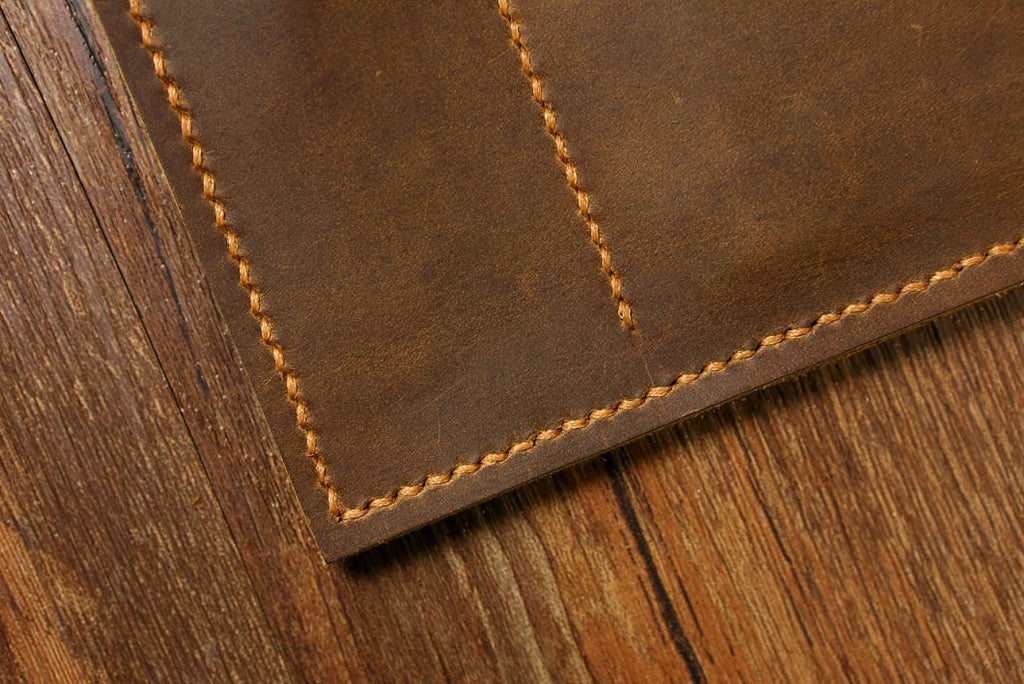 Leather A5 Moleskine Agenda notebook leather cover portfolio