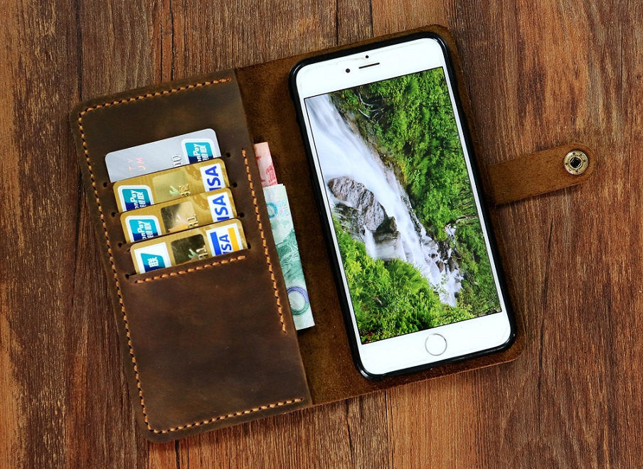 leather wristlet phone wallet