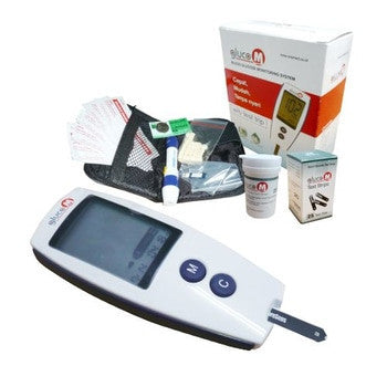 Gluco M Blood Glucose Monitor OneMed set+25 strip