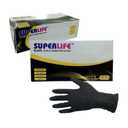 Nitrile Gloves Black Tattoo