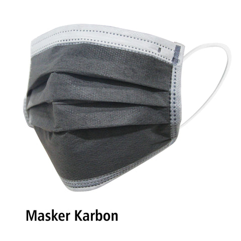 Masker Karet 4ply Carbon Active OneMed box 50pcs