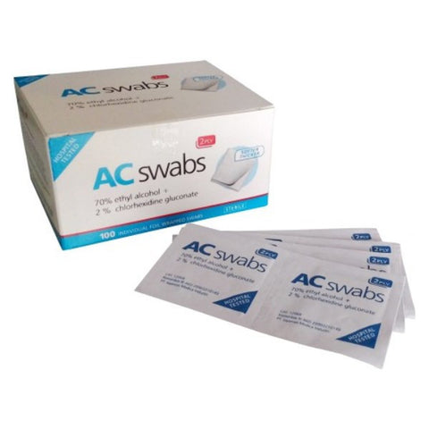 AC Swabs 2% OneMed box 100pcs