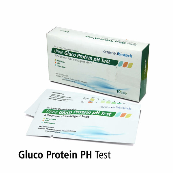 Gluco Protein PH Test OneMed box isi 10