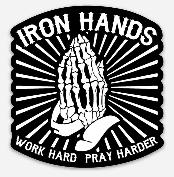 Prayer hands sticker