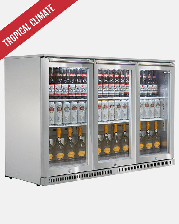 307L Triple Glass Door Alfresco Bar Fridge