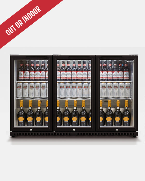307L Triple Glass Door Back Bar Fridge