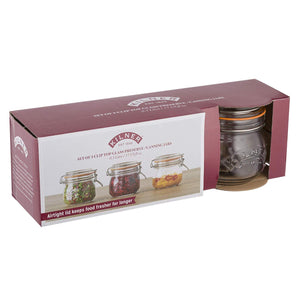 Round Clip Top Glass Jars - Set of 3