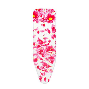 Pink Santini Ironing Board Cover with 4 mm Foam, L 124 x W 38 cm, Size B