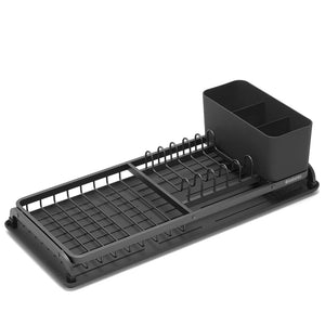 Compact Dish Drying Rack Dark Grey