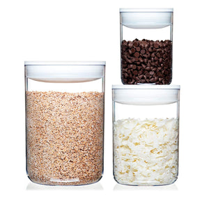 Pantry Round Set of 3 Large White