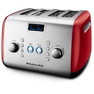 4 Slice Toaster, Empire Red
