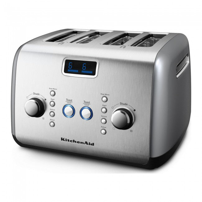 4 Slot Toaster in Contour Silver