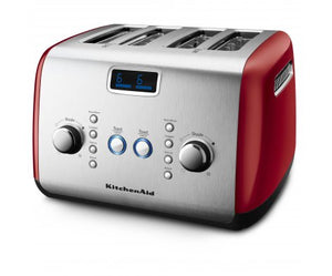 4 Slot Toaster in Empire Red