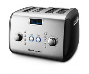 4 Slot Toaster in Onyx Black