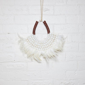White Feather Decor Collar