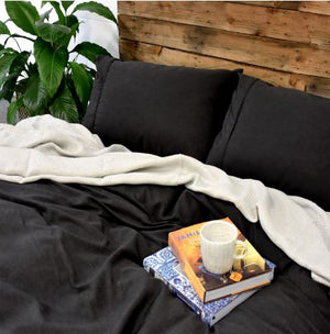 Organic Bamboo Twill King Sheet Set - Charcoal