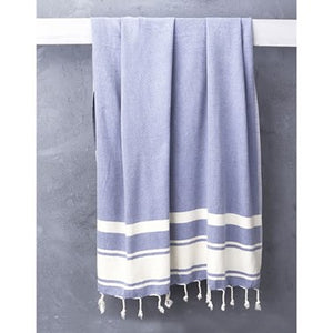 Turkish Nomad Handloomed Turkish Towel in Cobalt Blue