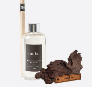 Leather & Oud Diffuser Natural Refill for Inoko Vessel