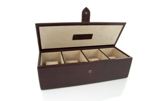 Big Leather Watch Box Chocolate