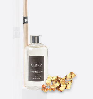 Sandalwood & Amber Diffuser Natural Refill for Inoko Vessel